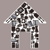 Household items. Home appliances for house household items royalty free illustration