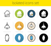 Household items icons set Stock Photography