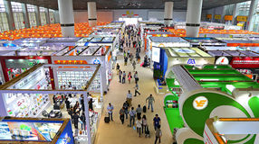 Household items pavilions at canton fair 2014, china Stock Images