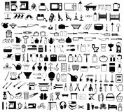 Household items set. Vector illustration of household items set Royalty Free Stock Image