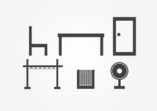Household Items on white background. Cover background in modern style. Vector design Royalty Free Stock Photography