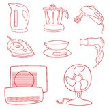 Household kitchen aplliance icons Royalty Free Stock Image