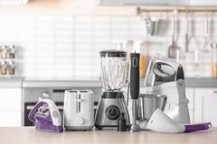 Household and kitchen appliances Royalty Free Stock Photography