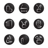 Household object icon set Royalty Free Stock Images
