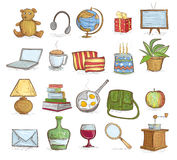 Household objects. Vector illustration of household objects set Royalty Free Stock Images