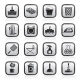 Household objects and tools icons Royalty Free Stock Photography