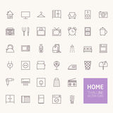 Household Outline Icons Royalty Free Stock Photo