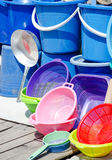 Household plastic equipments Royalty Free Stock Images