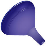 Household plastic funnel Royalty Free Stock Photography