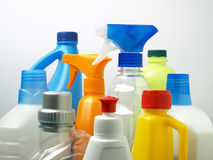 Cleaning Chemicals  Stock Photography