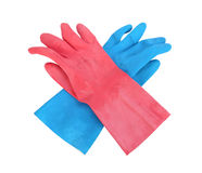 Household protective rubber gloves Isolated on white background Stock Photography