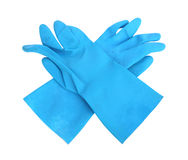 Household protective rubber gloves Isolated on white background Royalty Free Stock Images