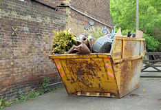 Household rubbish in skip Royalty Free Stock Photography