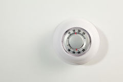 Household thermostat isolated on a white Royalty Free Stock Photography