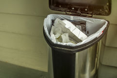 Household trash concept to throw away. And be wasteful of garbage going into the landfill Royalty Free Stock Photos
