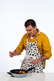 Househusband in trouble Royalty Free Stock Images