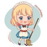 Housekeeper_2 διανυσματική απεικόνιση