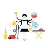 housekeeper illustration stock