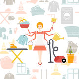 housekeeper illustration libre de droits