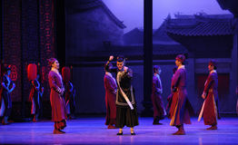 The housekeeper -The first act of dance drama-Shawan events of the past Stock Image