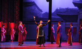 The housekeeper -The first act of dance drama-Shawan events of the past Stock Photography