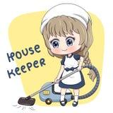 Housekeeper_5 vektor illustrationer