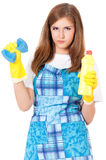 Housekeeper isolated portrait Royalty Free Stock Photo