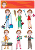 Housekeeper Set_eps Stock Photography