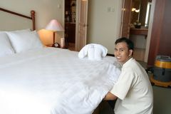Housekeeping in action Stock Photos