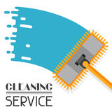Housekeeping background with mop. Image can be used on advertising booklets Royalty Free Stock Photo
