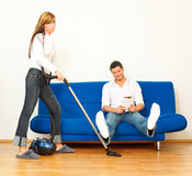Housekeeping couple Royalty Free Stock Photos