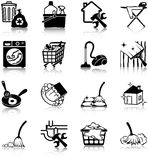 Housekeeping icons. Housekeeping related vector icons / silhouettes Stock Images