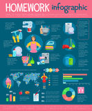 Housekeeping infographic with housework icons Stock Photo