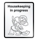 Housekeeping Information Sign Stock Images