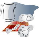 Housekeeping kitchen set. Royalty Free Stock Image