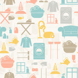 Housekeeping Seamless Pattern Stock Images