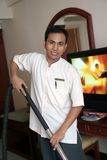 Housekeeping at work stock image