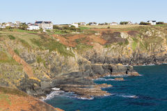 Housel Bay Cornwall England Royalty Free Stock Photography