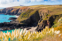 Housel Bay Cornwall England Royalty Free Stock Photos