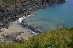 Housel zatoka przy jaszczurką, Cornwall Obrazy Royalty Free