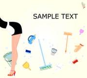 Housemaid cleans the house Stock Photos