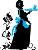 Housemaid silhouette Stock Image