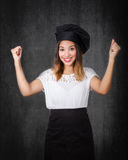 Housemaid success gesture Stock Photography