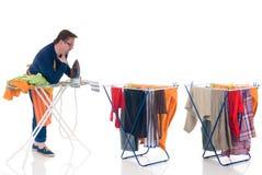 Houseman que hace el lavadero Fotografía de archivo