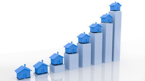 Housemarketgrafiek 3d toenemen Royalty-vrije Stock Foto's