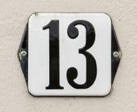 Housenumber 13 Royalty-vrije Stock Fotografie