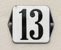 Housenumber 13 Royalty Free Stock Photography