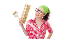 Housepainter Stock Photo