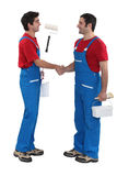 Housepainters handshaking Stock Image