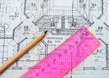Houseplanning Fotos de Stock